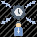 businessman, flexibility, freelancer, mobility, time icon