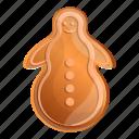 christmas, gingerbread, heart, love, snowman