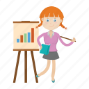 girl, kid, student, teach, teacher icon
