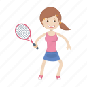 kid, play, racket, sport, tennis icon