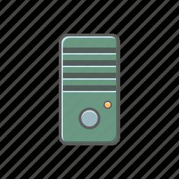 cabinet, computer, cpu, hardware, server icon