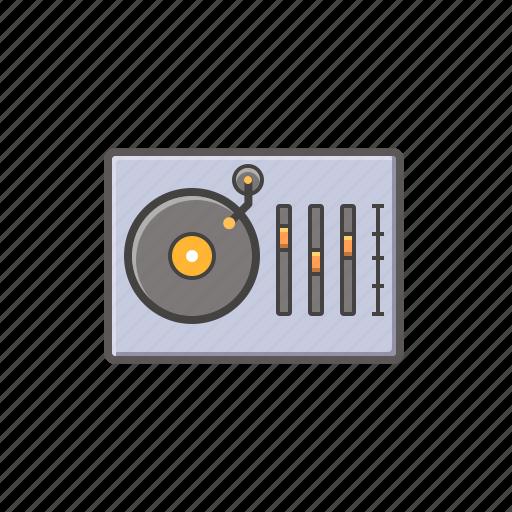 dj, dj machine, music, music controller, music player icon