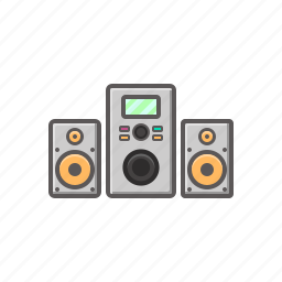 music, music system, sound, sound system, system icon