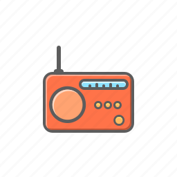 radio, vintage radio icon
