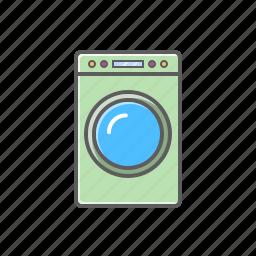 home appliances, machine, washing icon