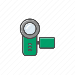 cam, camcorder, recorder, video camera icon