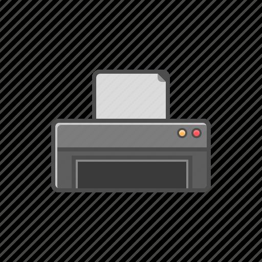 hardware, office, printer, printing icon