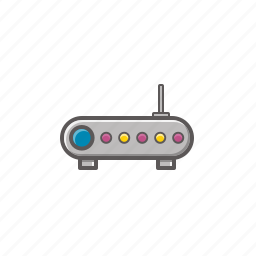 connection, hardware, network, router icon