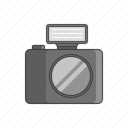 camera icon, digital camera, flash gun, photo, photo shoot, photography, picture icon
