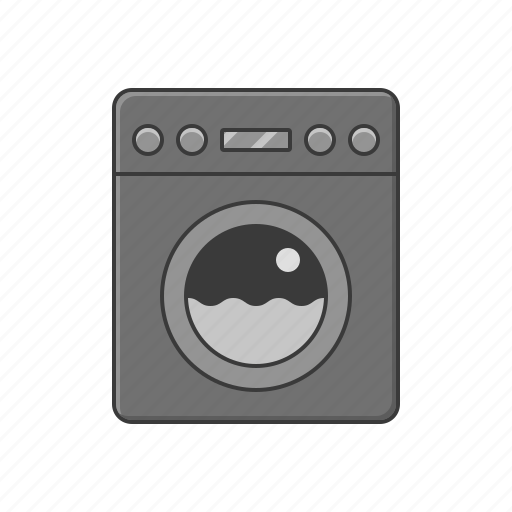 electronics, home appliance, laundry, machine, washing icon