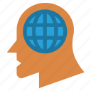 business, global, head, human head, thinking, world