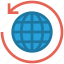 around, arrow, global business, globe, globe sync, sync, world icon