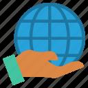 control, earth, global business, globe, hand, holding, world
