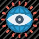 business, eye, globe, government, spy, surveillance, view