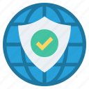 access, business, globe, protect, security, shield, world