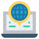 global business, globe, internet, laptop, talk, web, worldwide icon