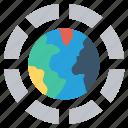 circle, earth, global, globe, international, internet, world