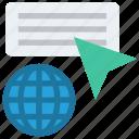 arrow, click, cursor, global business, web