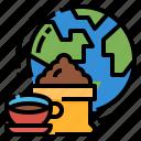 business, global, globalbusiness, coffee, world icon