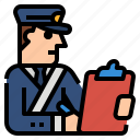custom, globalbusiness, check, immigration, paper icon