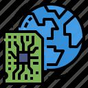 chip, global, globalbusiness, electronics, world icon