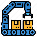 factory, globalbusiness, manufacturing, process, production icon