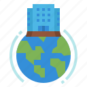 building, company, globalbusiness, headquarter, office icon