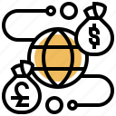 currency, transaction, financial, global, service icon
