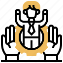 employee, human, personnel, recruitment, resource icon