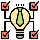 development, ideas, options, selection, solutions icon