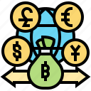 currency, financial, foreign, international, loans icon
