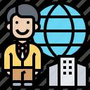 business, commerce, global, international, marketing icon