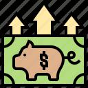 benefit, income, investment, profit, revenue