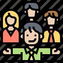 corporation, leader, manager, teamwork, vision