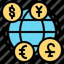 currency, economy, exchange, money, trade icon
