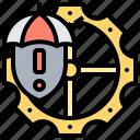 assurance, management, problem, protection, risk icon