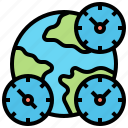 country, global, hours, international, timezone icon