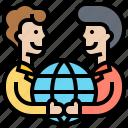 agreement, contract, corporation, partnership, worldwide icon