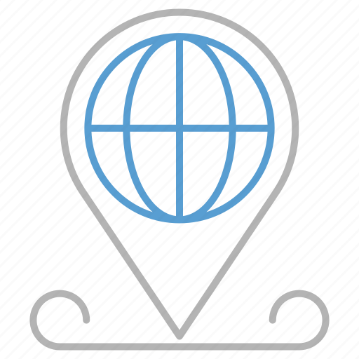 business, global, location, pin icon