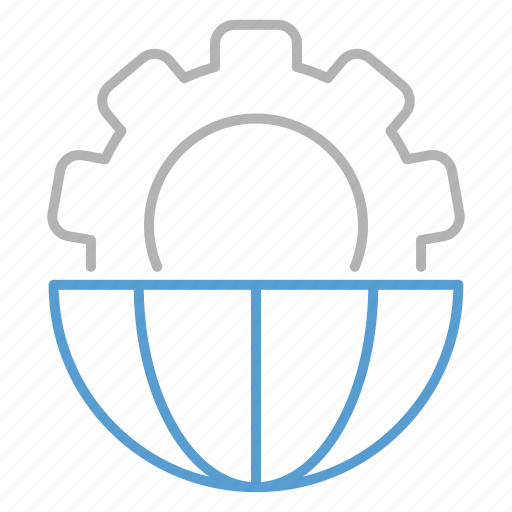 business, global, processing, web icon