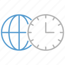 business, clock, time, zones icon