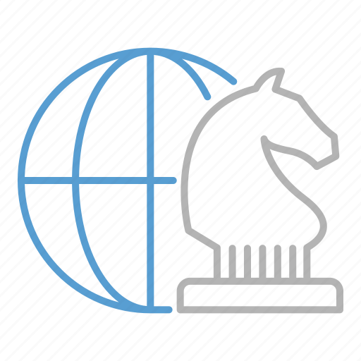 business, global, goal, strategy icon
