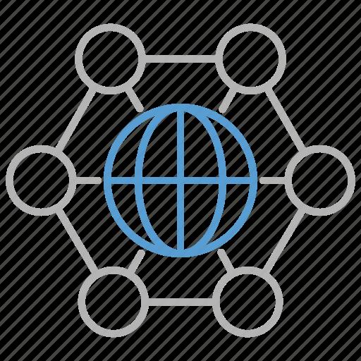 business, corporation, international, network, web icon
