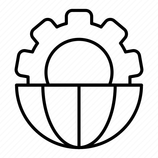 global, global business, processing icon