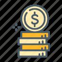 cash, coin, credit, money, payment