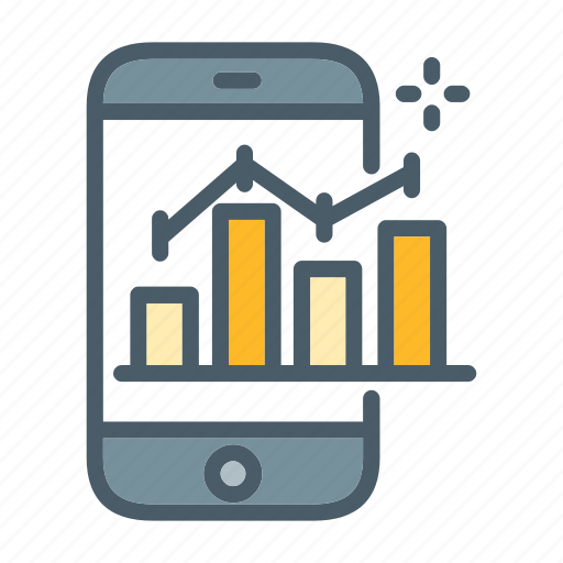 Chart, graph, mobile, statistics, stock icon - Download on Iconfinder