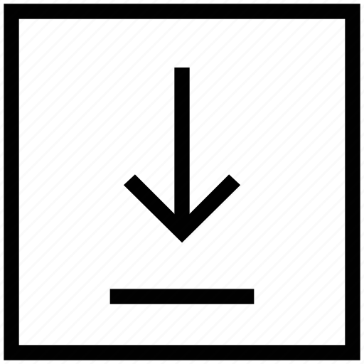 courier symbol, down, down arrow, downloading, downloads, downside icon