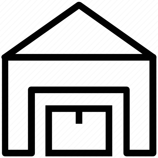 building, garage, real estate, storage unit, warehouse icon