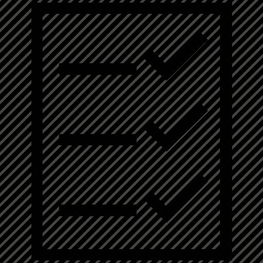 checklist, delivery list, list, performance checklist, verification, verification list icon