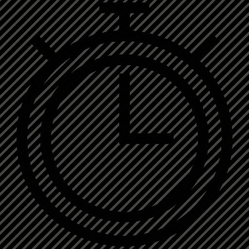 alarm clock, clock, stopwatch, time, timepiece icon